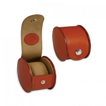 Uhrenbox aus PU-Leder mit 1 Gitter, Single Grid Uhrenkasten in Braun