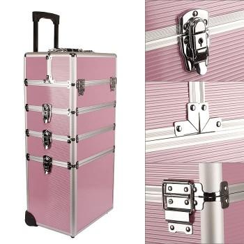 Alu Kosmetikkoffer Pilotenkoffer Schminkkoffer Beauty Case - Pink